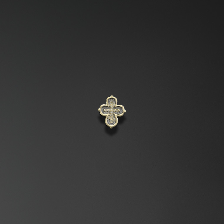 Quatrefoil Cross with the Words 'Save and Protect'
