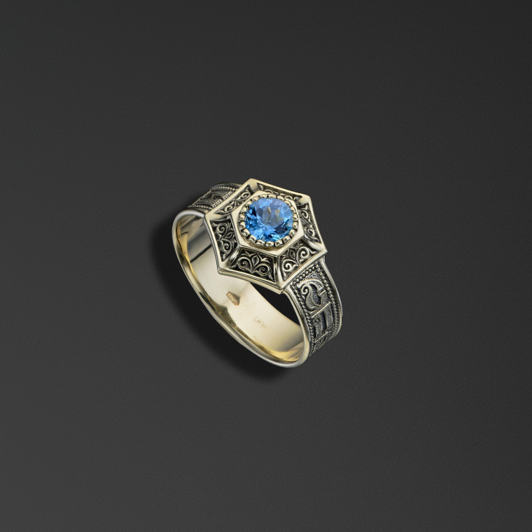 Protective signet ring bearing the words of the 'Save and Protect' prayer