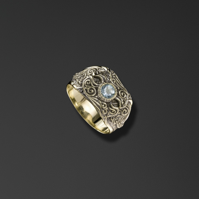 Protective signet ring bearing the words 'Save and Protect'