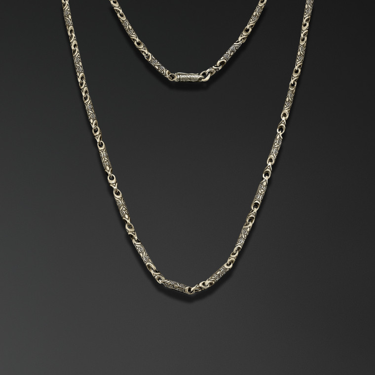 """Engraved designs"" Chain"
