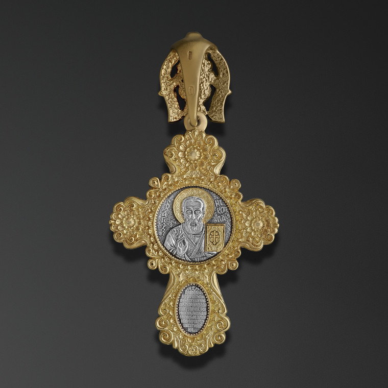 Princely cross with an image of Saint Nicholas the Miracle Worker