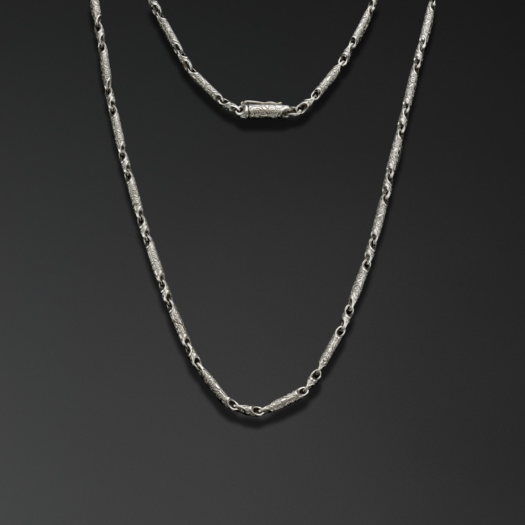 """Engraved designs"" (thin)  Chain"